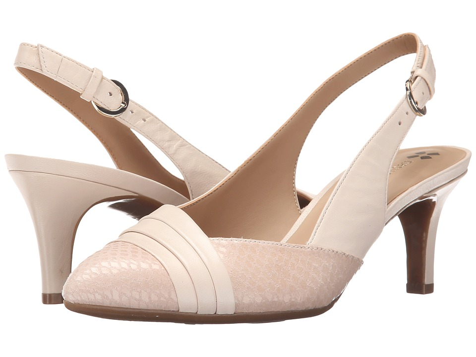Naturalizer - Odellia (Ivory Leather/Tender Taupe Glossy Printed Snake) High Heels