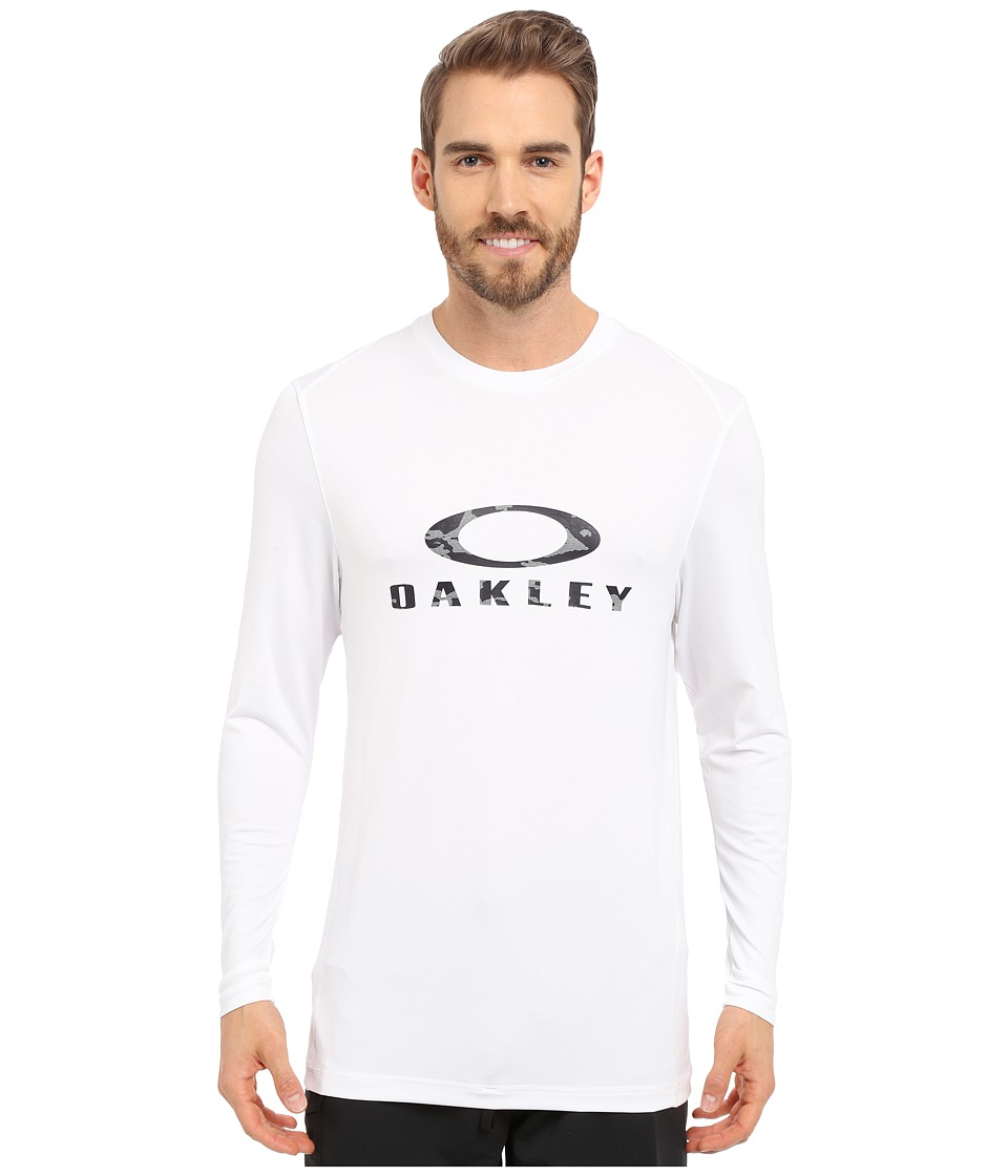 Oakley - Long Sleeve Melange Rashguard (White) Men's Swimwear