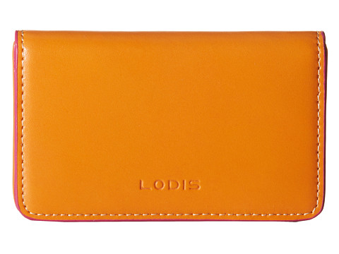 Lodis Accessories - Audrey Mini Card Case (Orange/Ivory) Credit card Wallet