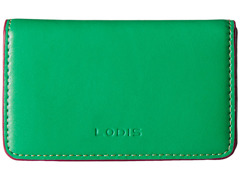 Lodis Accessories - Audrey Mini Card Case (Tangerine/Ivory) Credit card Wallet