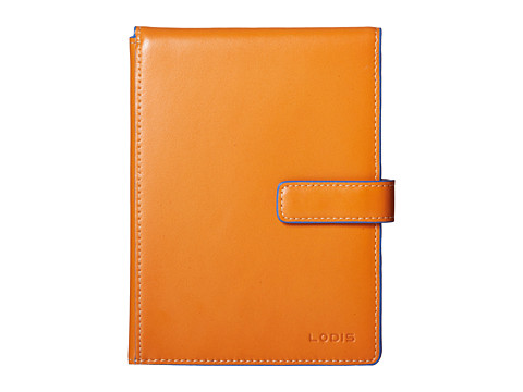 Lodis Accessories - Audrey Passport Wallet w/ Ticket Flap (Orange/Ivory) Wallet