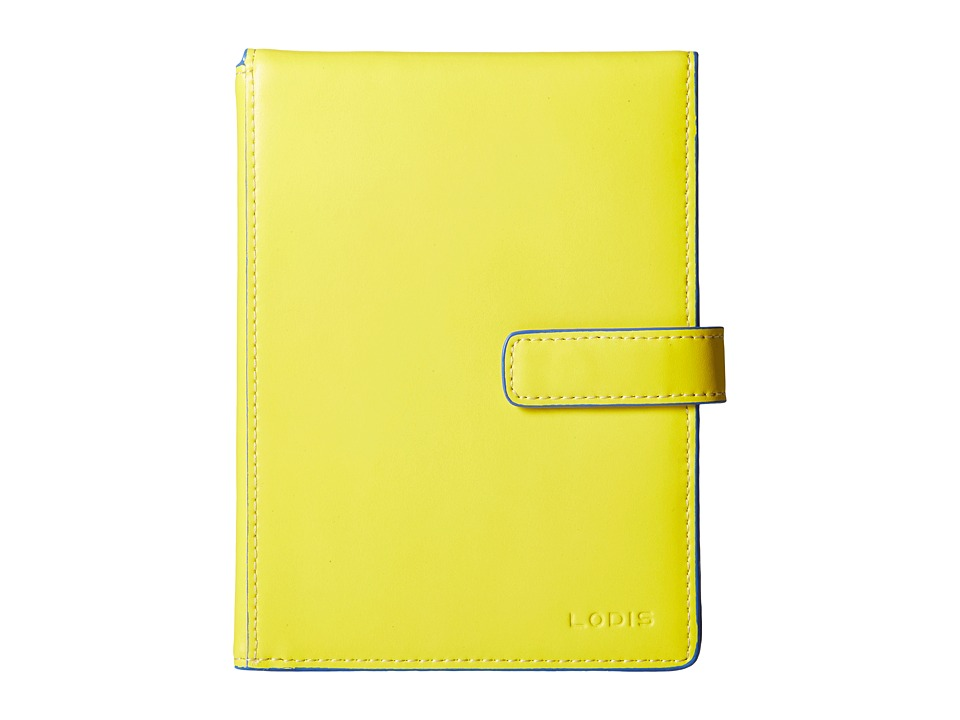 Lodis Accessories - Audrey Passport Wallet w/ Ticket Flap (Canary/Orange) Wallet