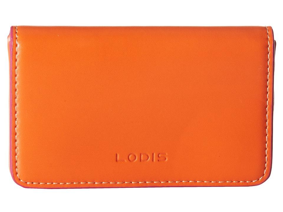 Lodis Accessories - Audrey Mini Card Case (Shamrock/Pink) Credit card Wallet