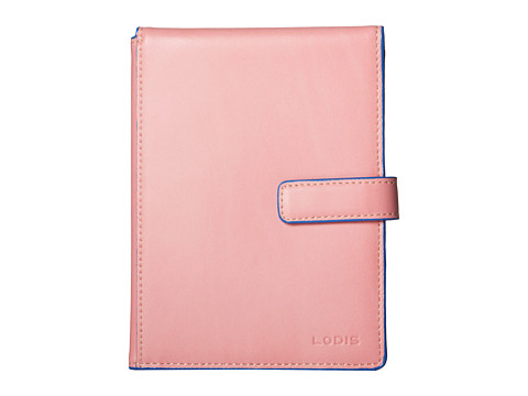 Lodis Accessories - Audrey Passport Wallet w/ Ticket Flap (Pink/Orange) Wallet