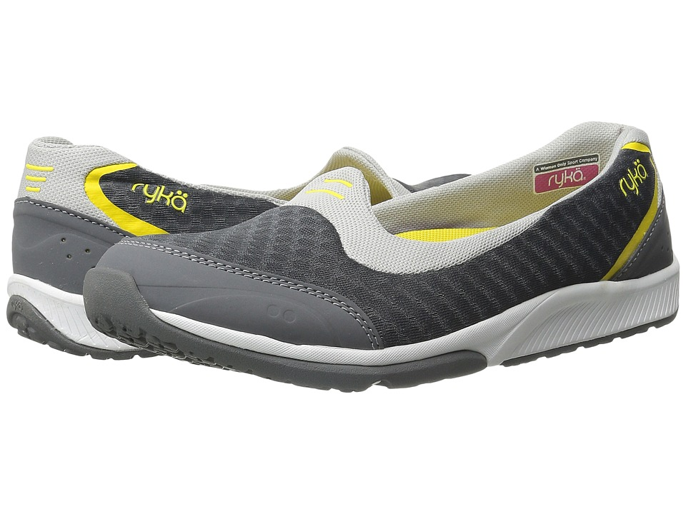 Ryka - Flutter (Steel Grey/Ivan the Grey/Cyber Yellow) Women's Flat Shoes