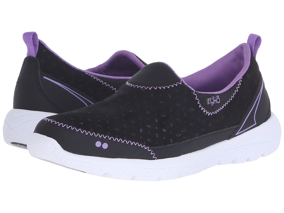 Ryka - Henley (Black/English Lavendar) Women's Slip on Shoes