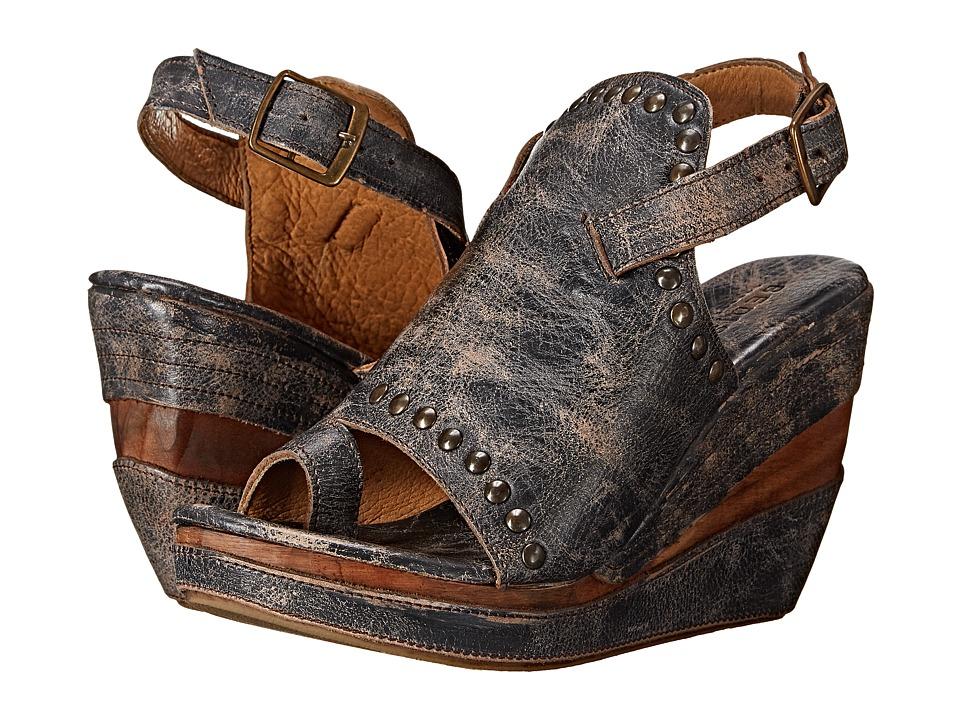 Bed Stu - Joann (Black Lux) Women's Wedge Shoes