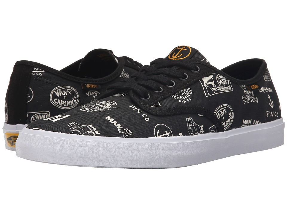 Vans - Aldrich SF ((Captain Fin) Black) Lace up casual Shoes