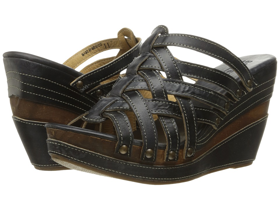 Bed Stu - Josie (Black Driftwood) Women's Shoes