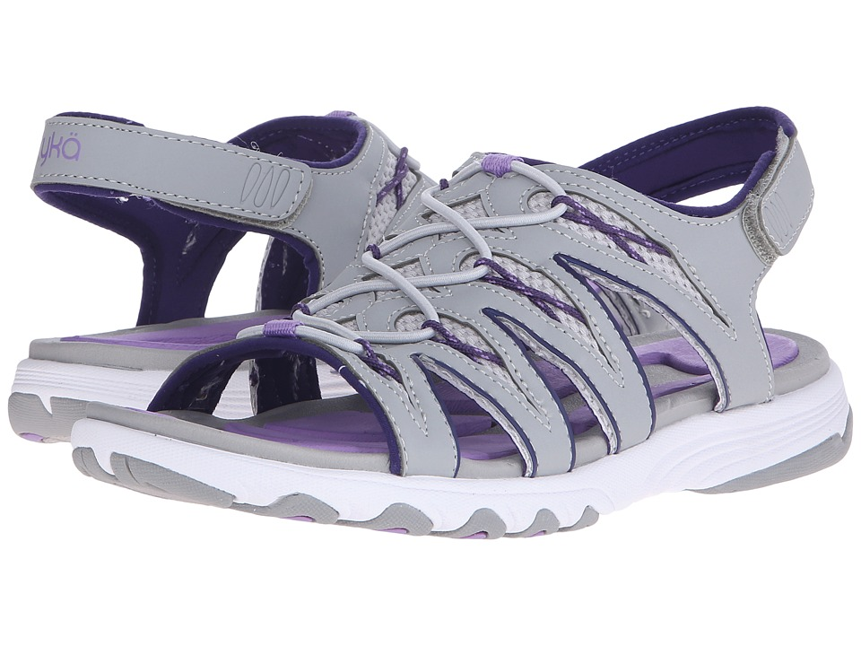 Ryka - Glance (Ivan the Grey/Cool Mist Grey/English Lavender) Women's Sandals