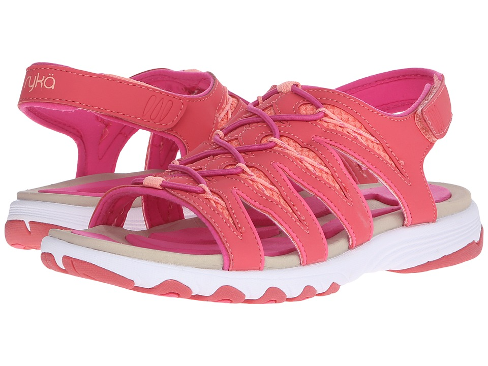 Ryka - Glance (Coral/Fusion Coral/Cool Mist Grey) Women's Sandals