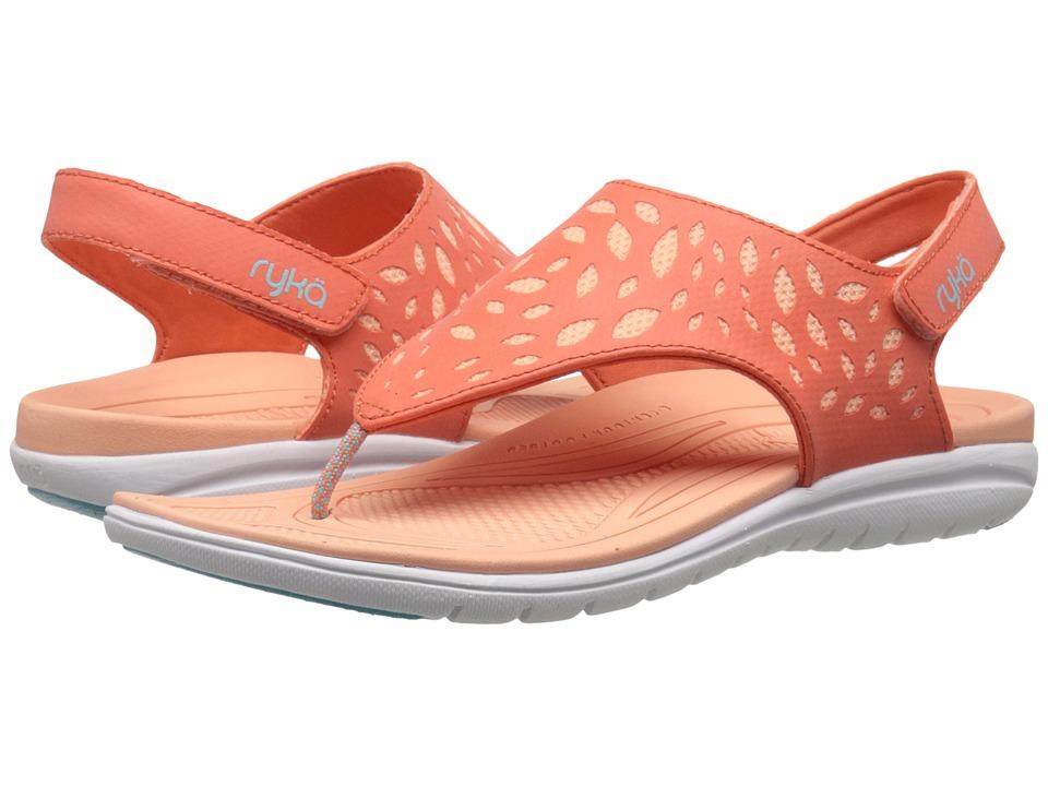 Ryka - Scamper (Coral Reef/Peach Nectar/Aqua Haze) Women's Sandals