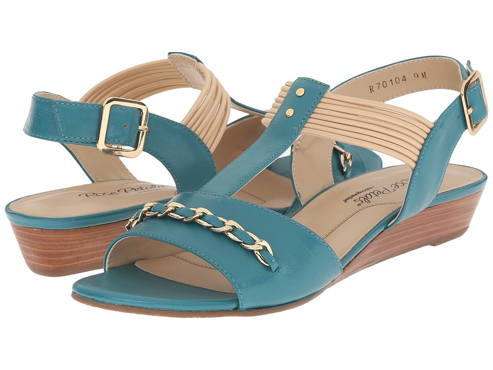 Rose Petals - Jasmine (Summer Teal Kid) Women's Wedge Shoes