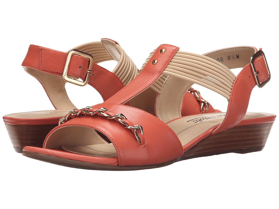Rose Petals - Jasmine (Coral Kid) Women's Wedge Shoes