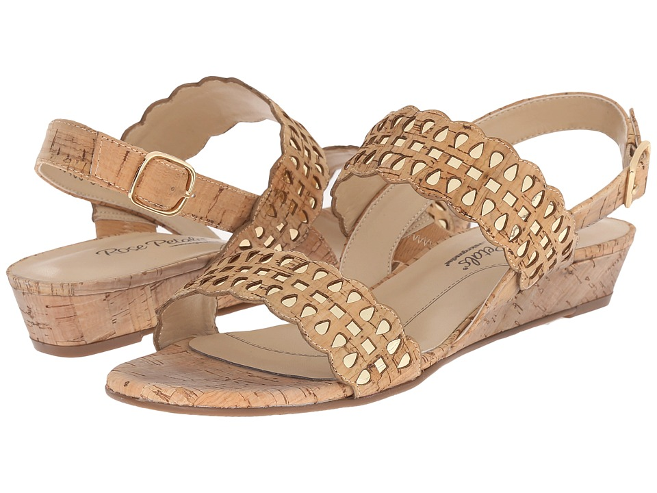 Rose Petals - Jolie (Gold Cork/Gold Metallic) Women's Sandals