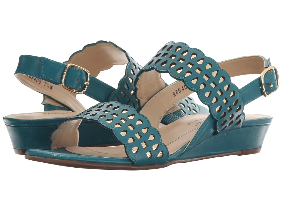 Rose Petals - Jolie (Summer Teal Kid/Gold Metallic) Women's Sandals