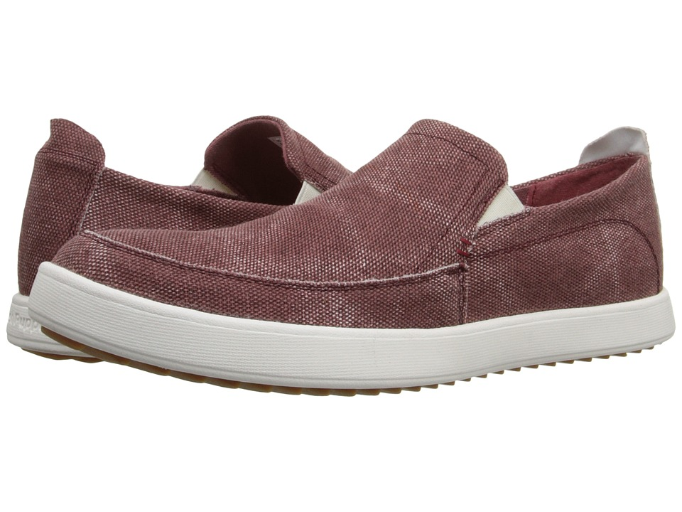 Hush Puppies - Roadside Slip On MT (Burgundy Canvas) Men