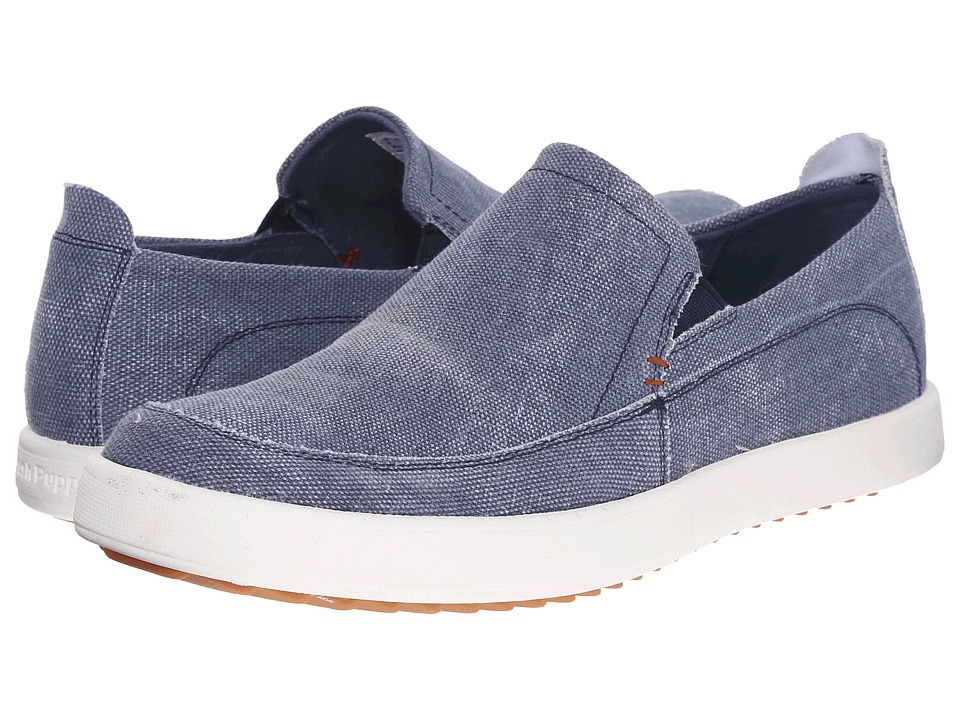 Hush Puppies - Roadside Slip On MT (Navy Canvas) Men