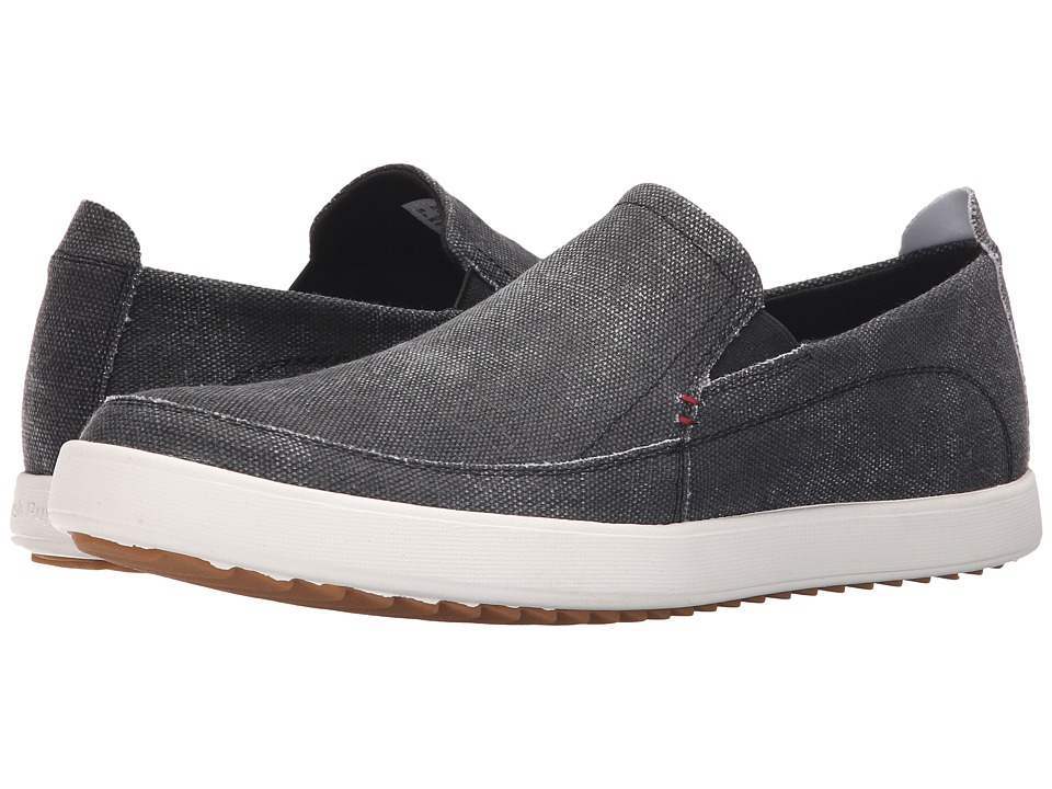 Hush Puppies - Roadside Slip On MT (Black Canvas) Men