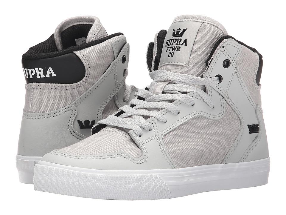 Supra Kids - Vaider (Little Kid/Big Kid) (Light Grey/Black) Kids Shoes