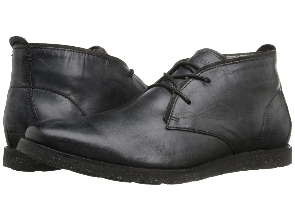 Hush Puppies Roland Jester (Black Leather) Men