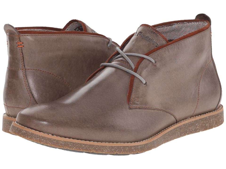 Hush Puppies - Roland Jester (Grey Leather) Men's Lace-up Boots