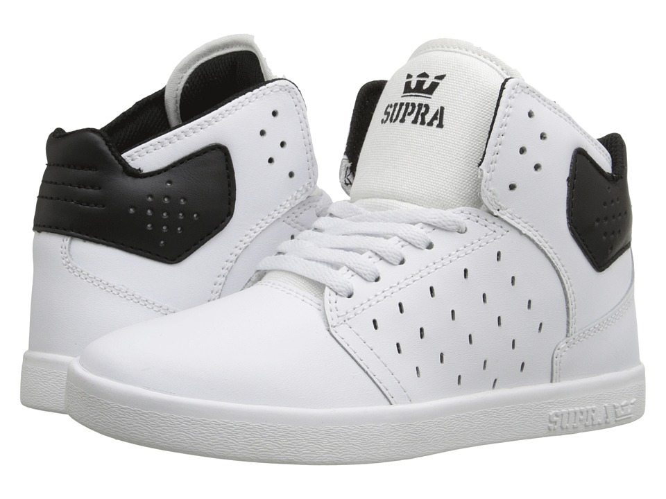 Supra Kids - Atom (Little Kid/Big Kid) (White/Black) Boys Shoes
