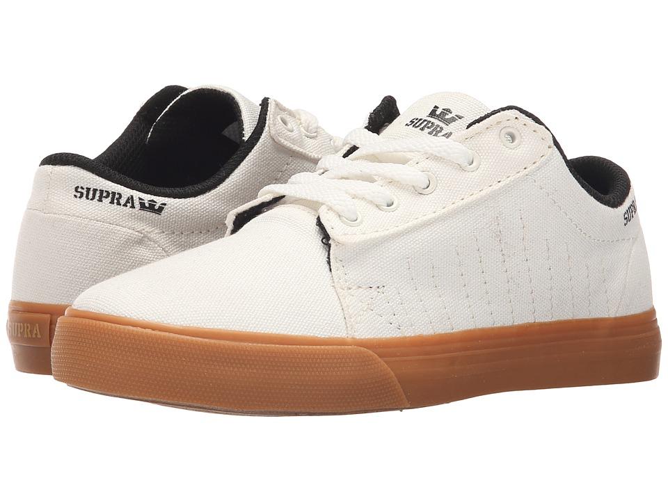 Supra Kids - Belmont (Little Kid/Big Kid) (Off White) Boy's Shoes