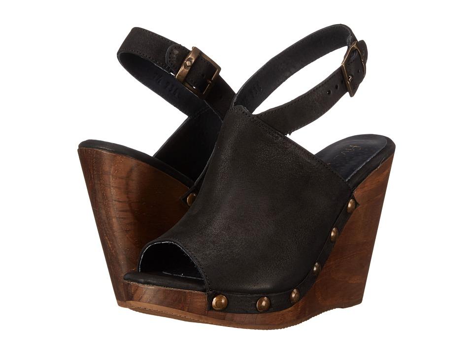 Cordani - Manzanillo (Black Nubuck) Women's Wedge Shoes