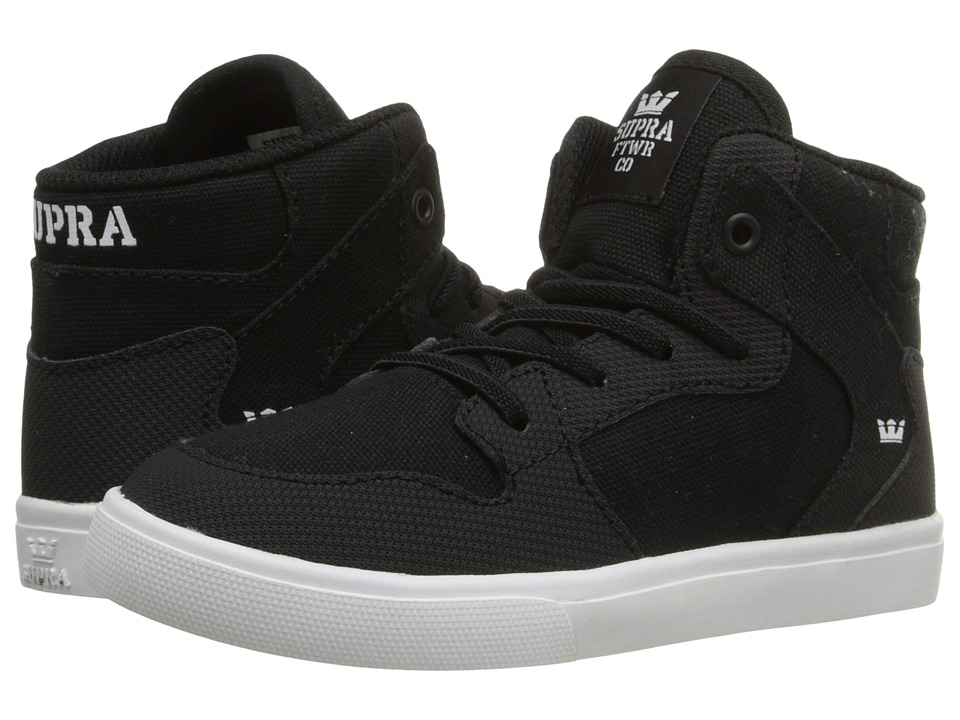 Supra Kids - Vaider (Toddler) (Black/White) Boy's Shoes