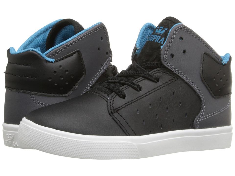 Supra Kids - Atom (Toddler) (Black/Charcoal) Boy's Shoes