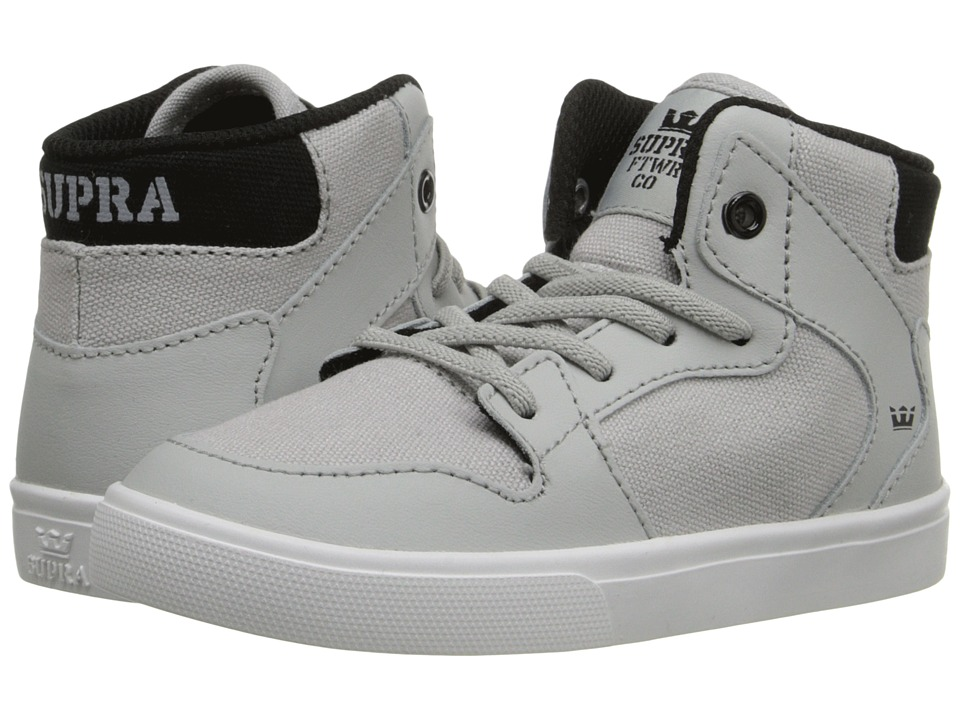 Supra Kids - Vaider (Toddler) (Light Grey/Black) Boy's Shoes