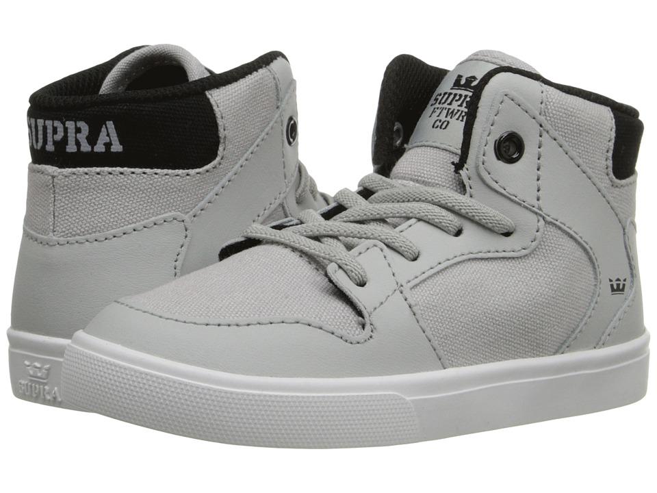 Supra Kids - Vaider (Toddler) (Light Grey/Black) Boy's Shoes
