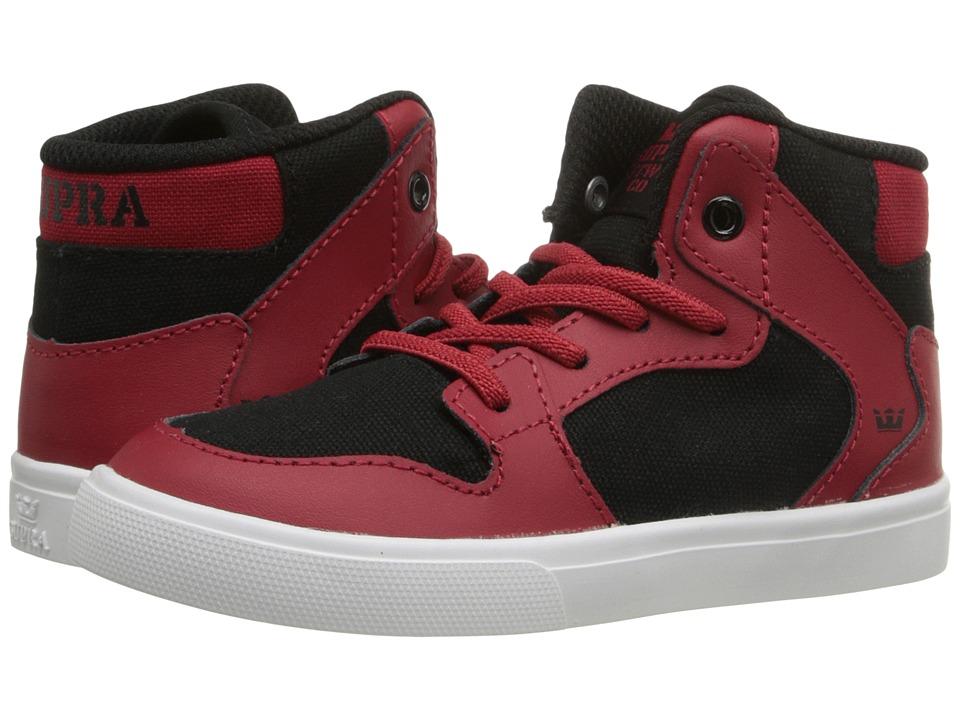 Supra Kids - Vaider (Toddler) (Red/Black) Boy's Shoes