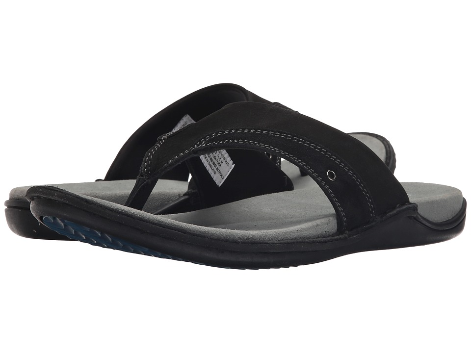 Hush Puppies - Wilton Grady (Black Nubuck) Men's Sandals