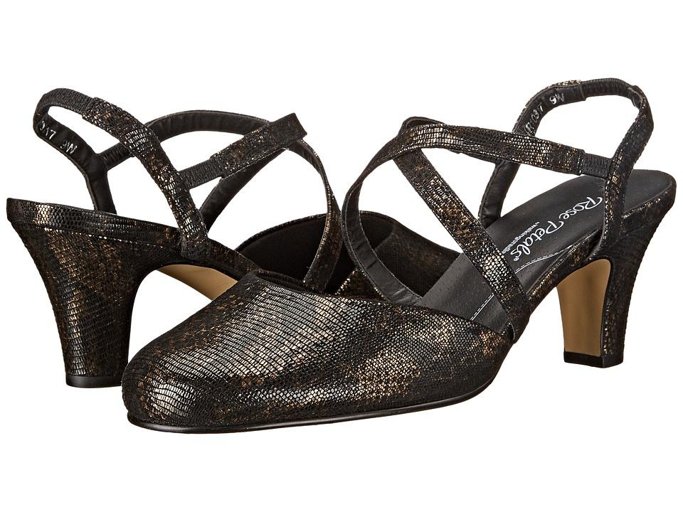 Walking Cradles Caliente (Black/Bronze Lizard Print) Women