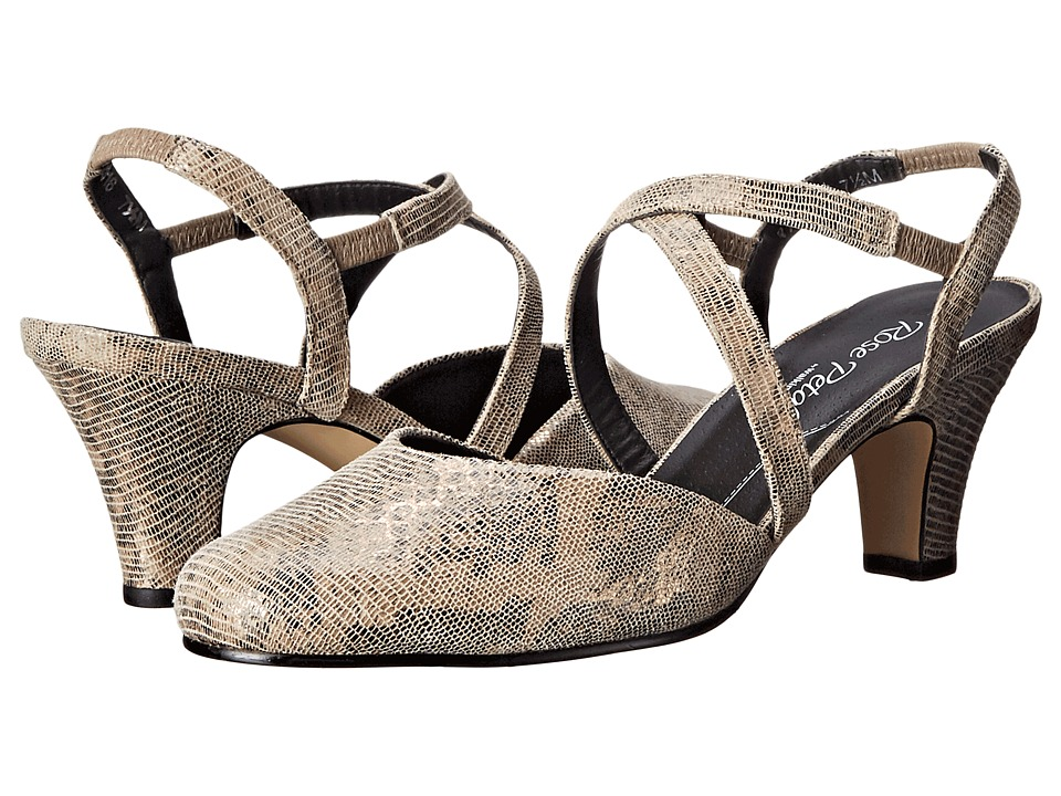 Walking Cradles Caliente (Taupe/Gold Lizard Print) Women