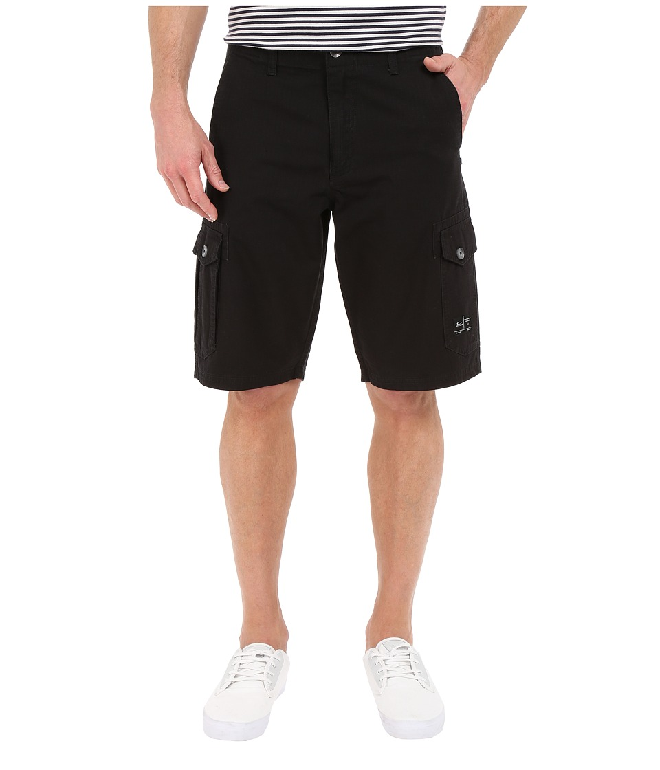 Oakley - Foundation Cargo Shorts (Jet Black Heather) Men's Shorts