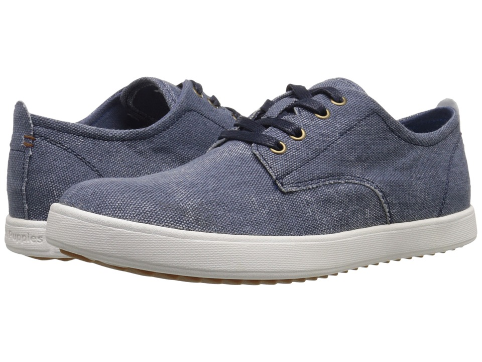 Hush Puppies - Roadside Oxford PL (Navy Canvas) Men