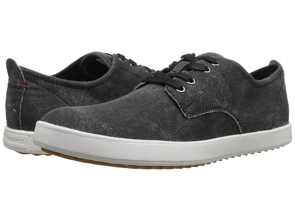 Hush Puppies - Roadside Oxford PL (Black Canvas) Men's Slip on Shoes