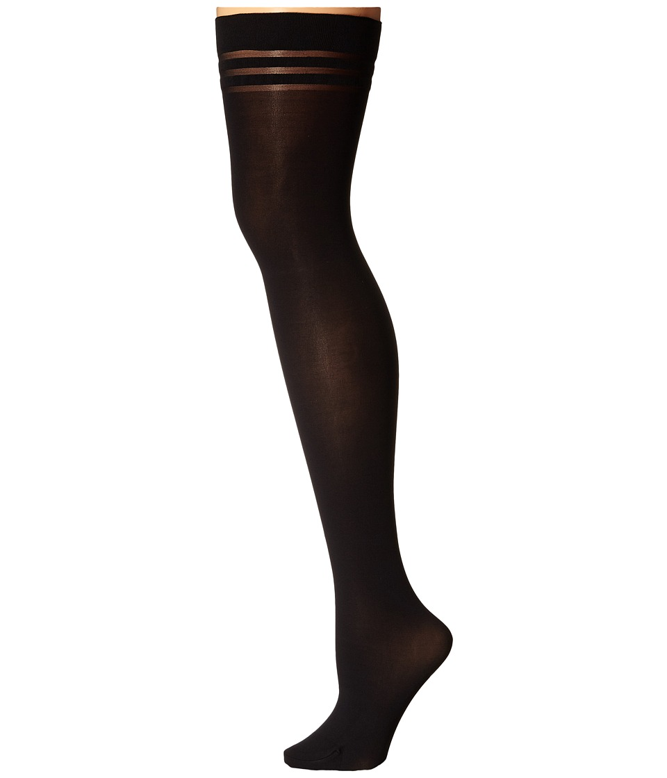 Alice + Olivia - Opaque Hold Ups (Black) Hose
