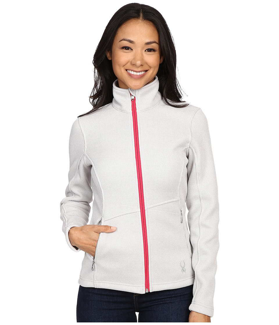 Spyder - Endure Full Zip Mid Weight Core Sweater (Cirrus/Punch) Women's Sweater
