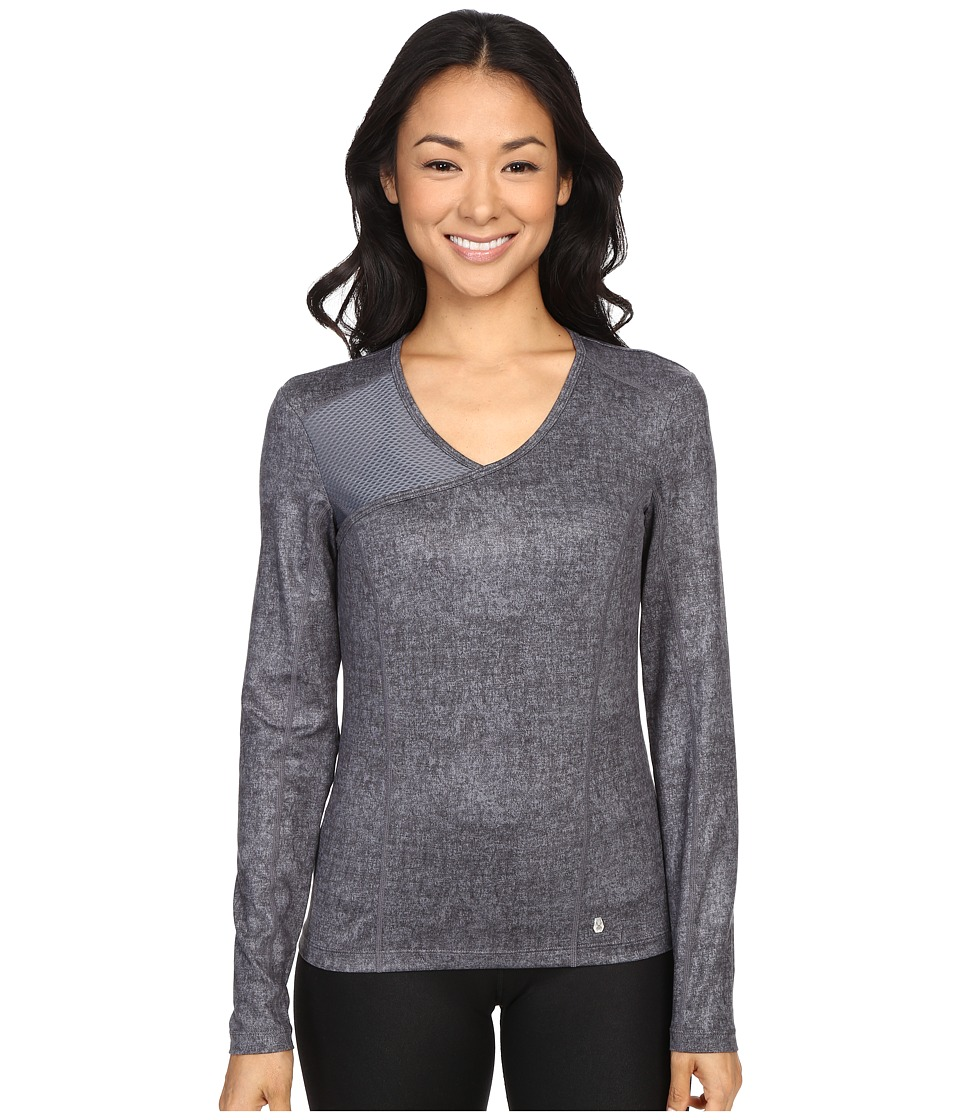 Spyder - Ray Top (Image Grey Washed Print/Image) Women's Long Sleeve Pullover