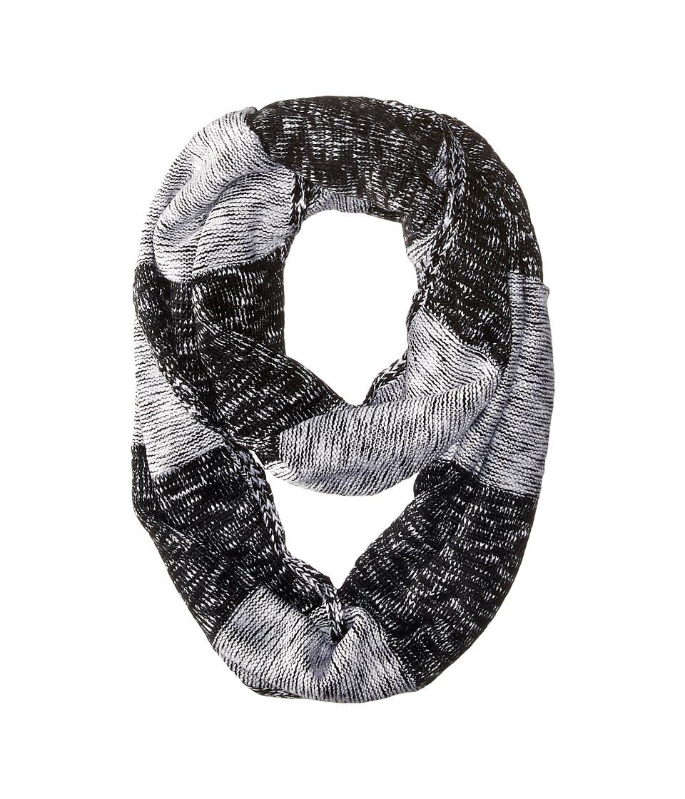 Calvin Klein - Plaited Stripe Infinity Scarf (Black) Scarves