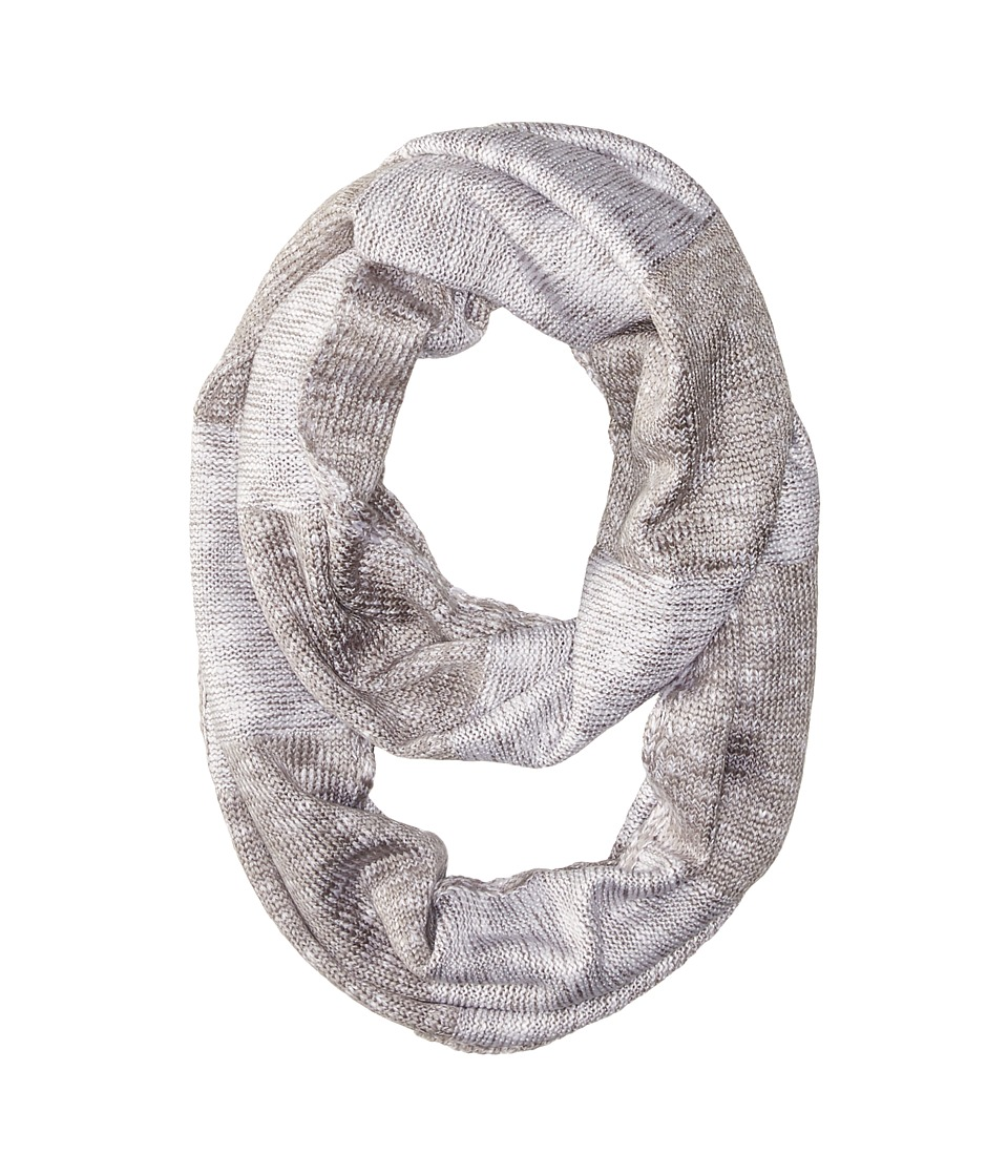 Calvin Klein - Plaited Stripe Infinity Scarf (Heathered Mid Gray) Scarves