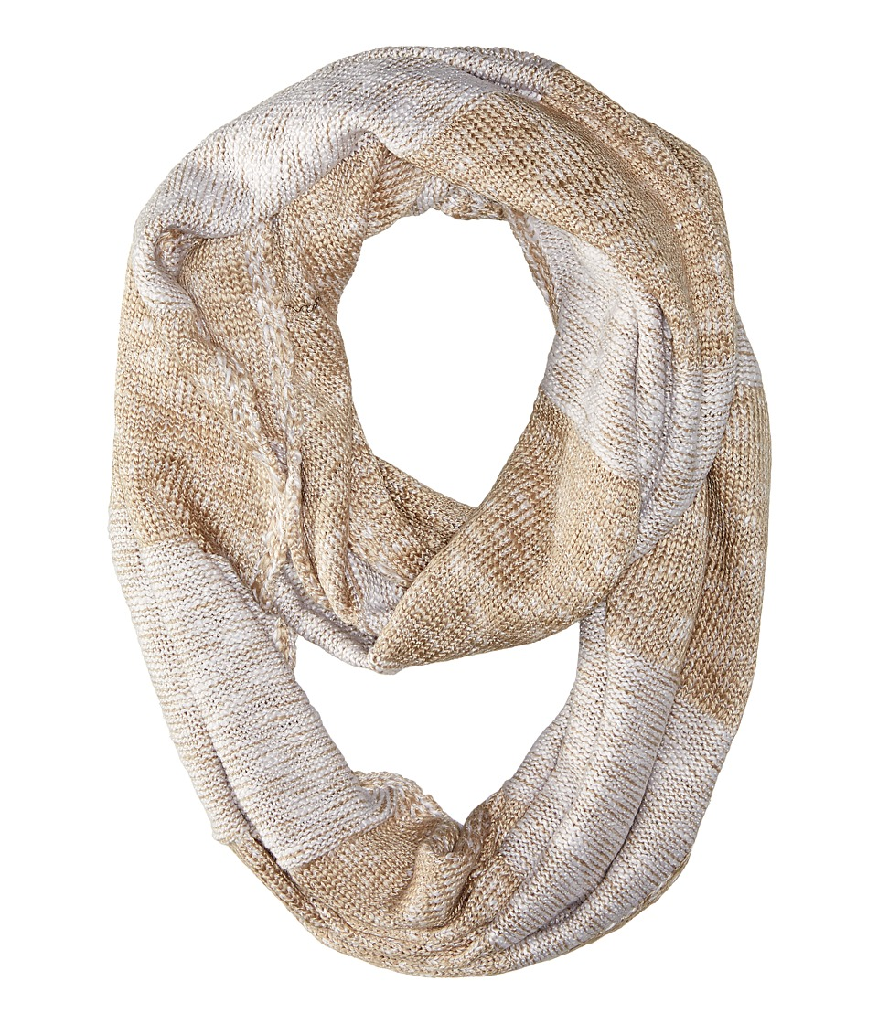 Calvin Klein - Plaited Stripe Infinity Scarf (Heathered Almond) Scarves