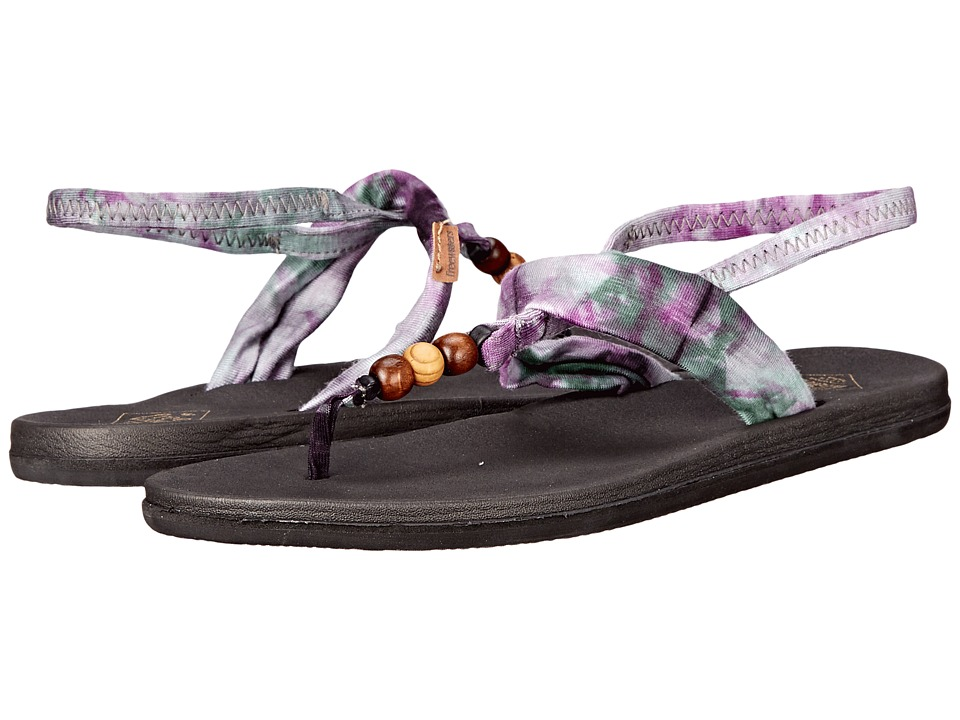 Freewaters - Tessa Print (Black/Purple Print) Women's Shoes
