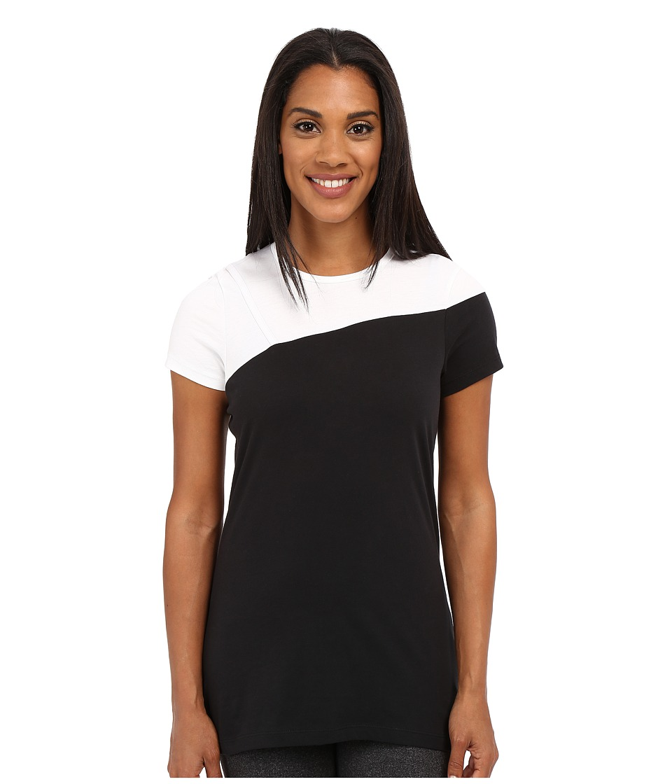 Spyder - Next Tunice Top (Black/White) Women's Short Sleeve Pullover