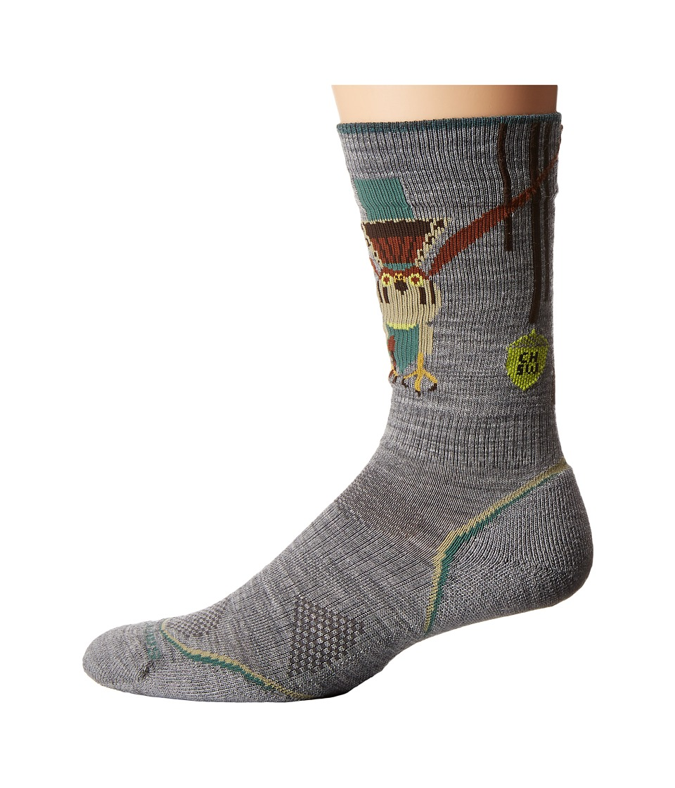 Smartwool - Outdoor Light Crew: Charley Harper National Park Poster Canyon Country (Light Gray) Men's Crew Cut Socks Shoes