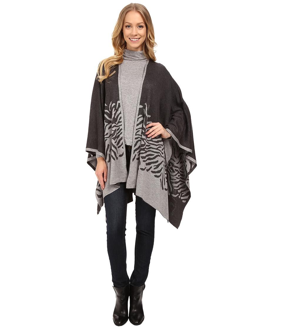 Calvin Klein - Ombre Zebra Ruana (Gray) Women's Sweater
